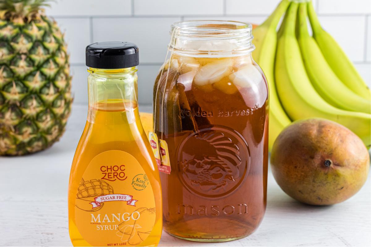 ChocZero Syrup with Ice Tea