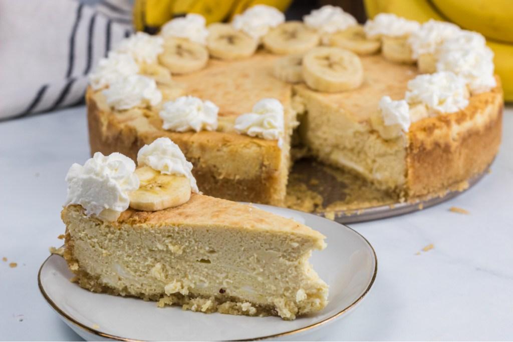 Keto Banana Cheesecake