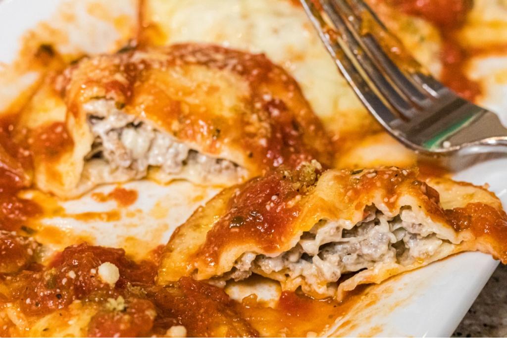 keto ravioli on a plate