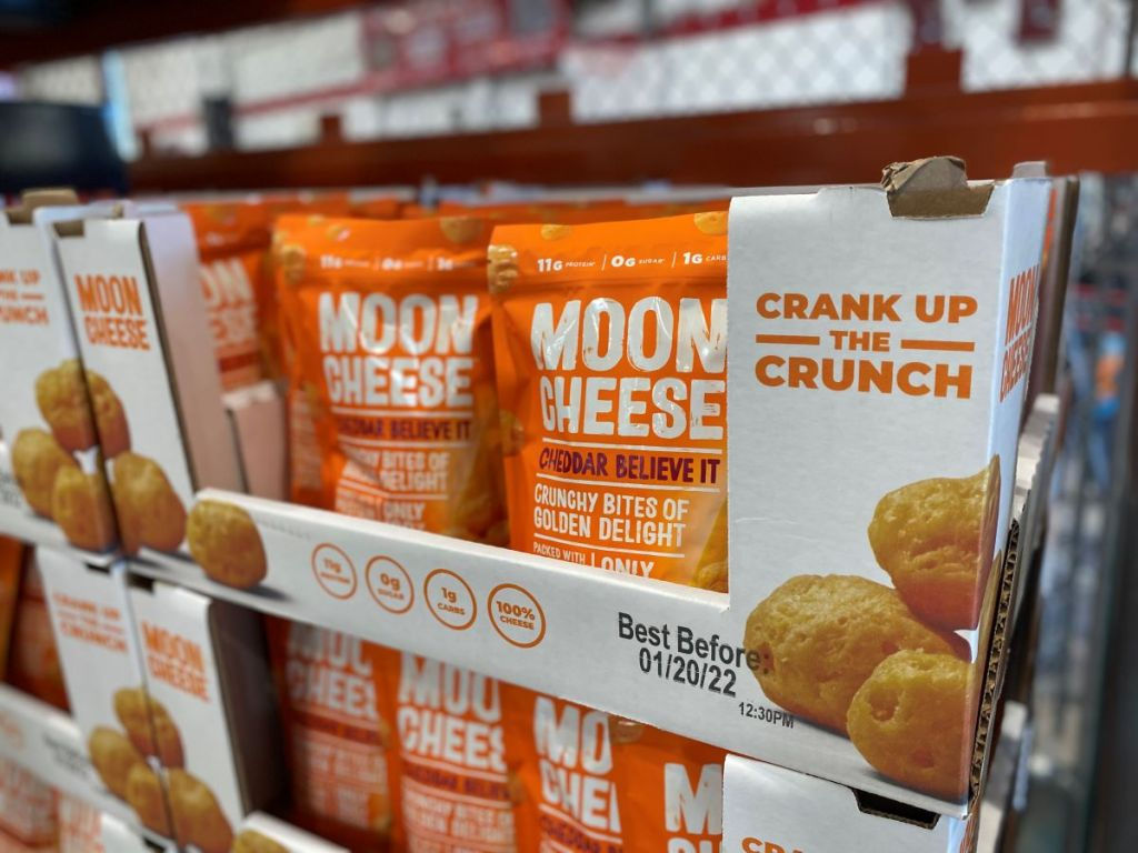Moon Cheese snacks at Costco