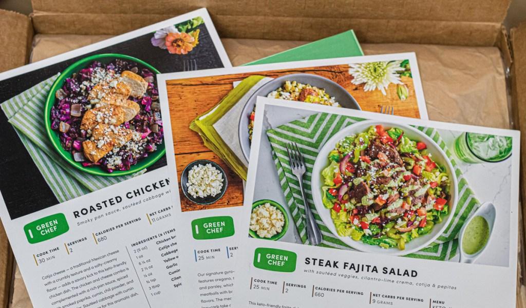 green chef keto recipe cards