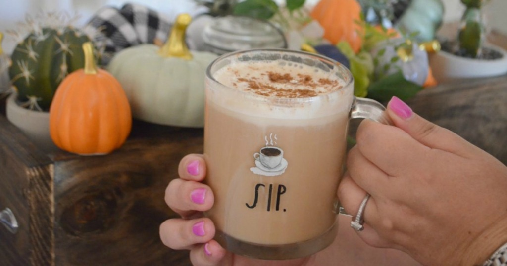 Coffee Mug with pumpkin spice latte