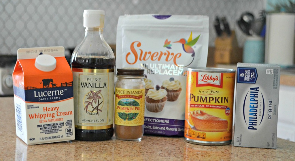 low carb ingredients on counter