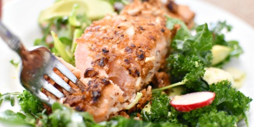 Keto Almond-Crusted Salmon Salad (Better Than The Cheesecake Factory!)