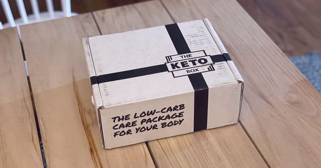 A keto subscription box on a table