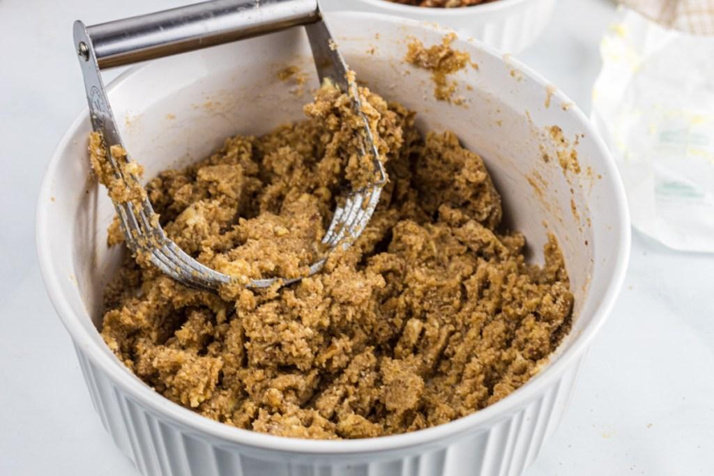 mixing keto cookie dough