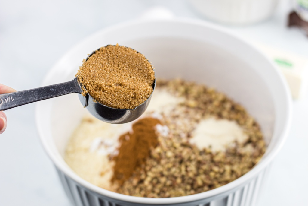 mixing bowl with dry ingredients