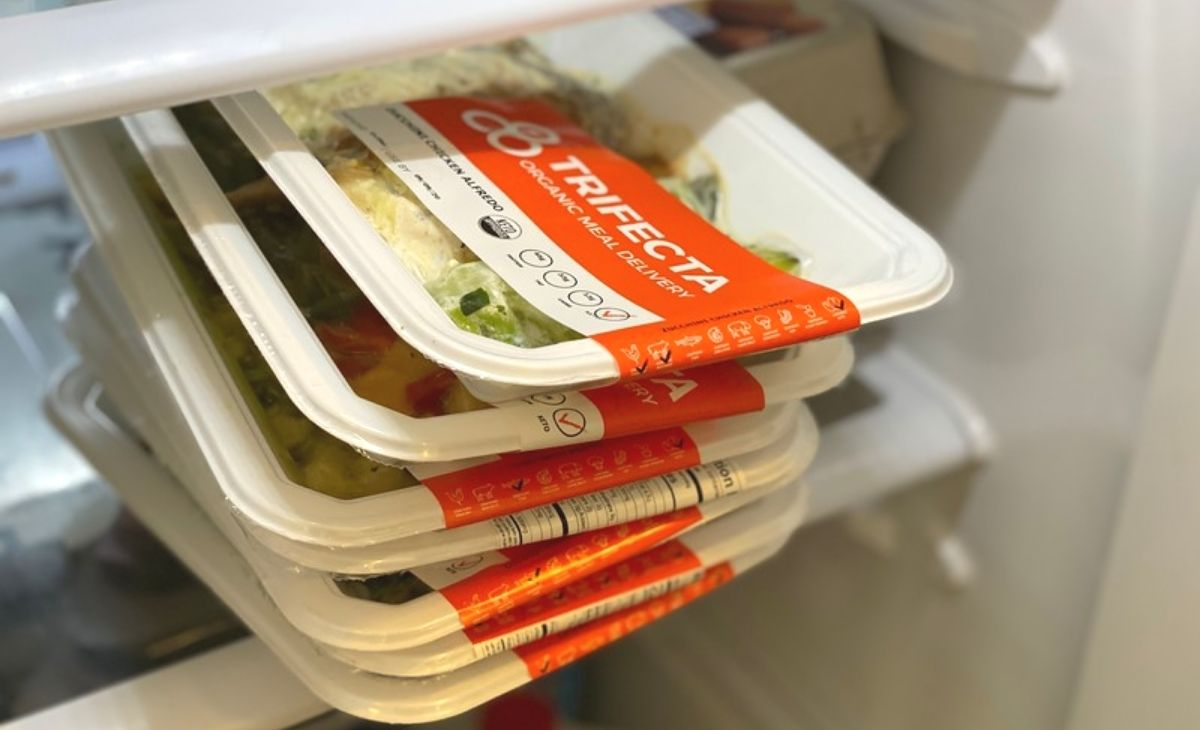 Trifecta Nutrition keto meals in a fridge