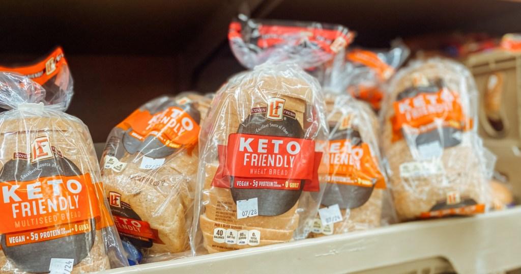 aldi keto bread on shelf