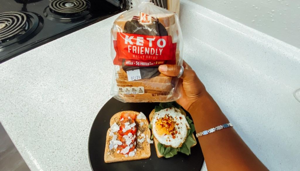 aldi bread with food