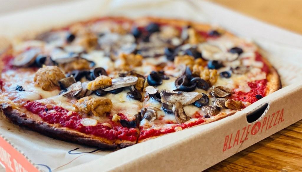 blaze keto pizza in box