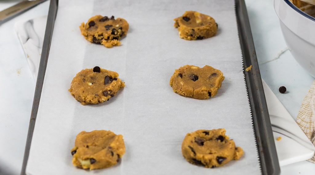 flattened monster cookie dough