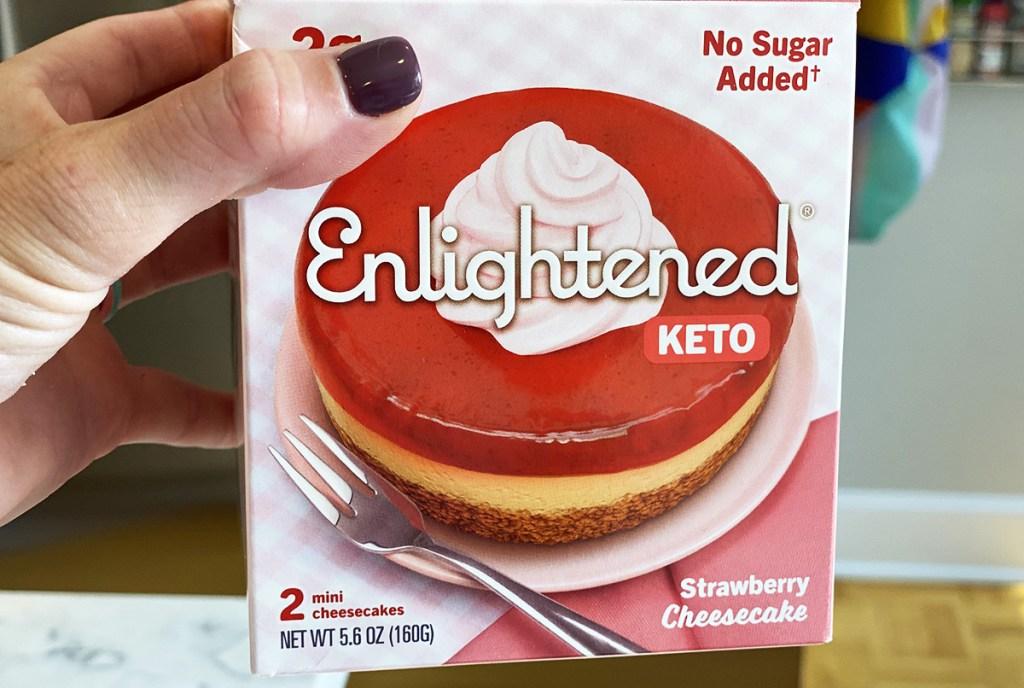 enlightened keto strawberry cheesecake