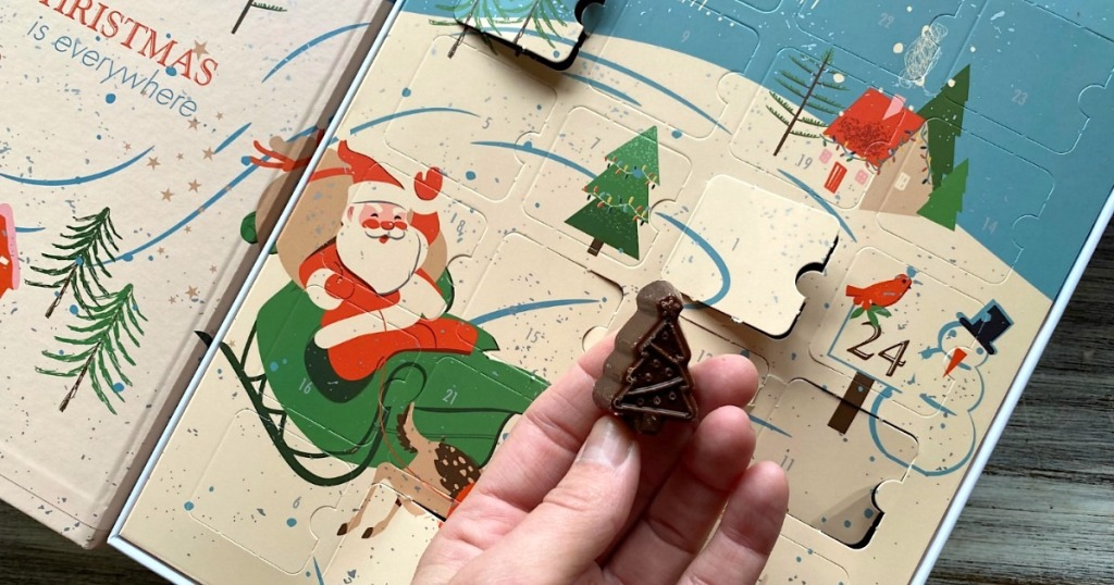 taking chocolate out of ChocZero keto advent calendar