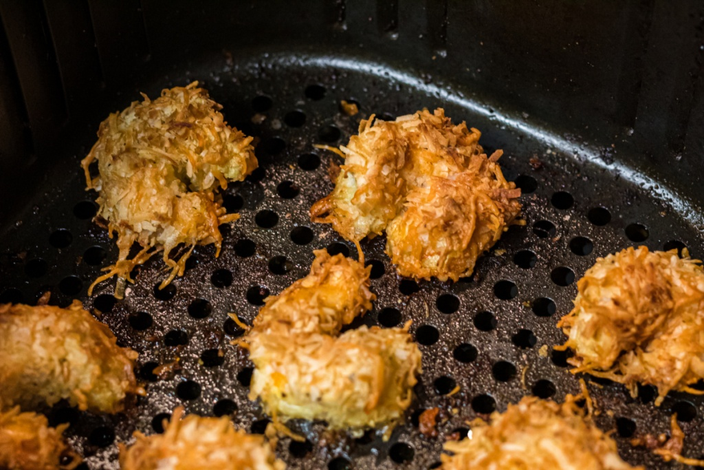 cooked coconut shrimp in air fryer