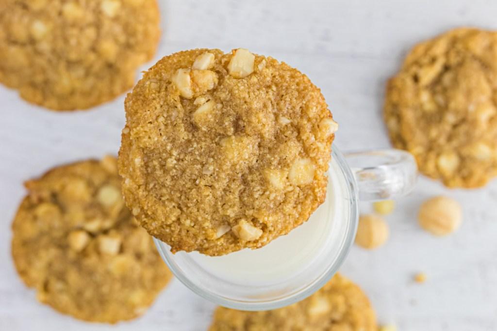 Keto White Chocolate macadamia nut cookie