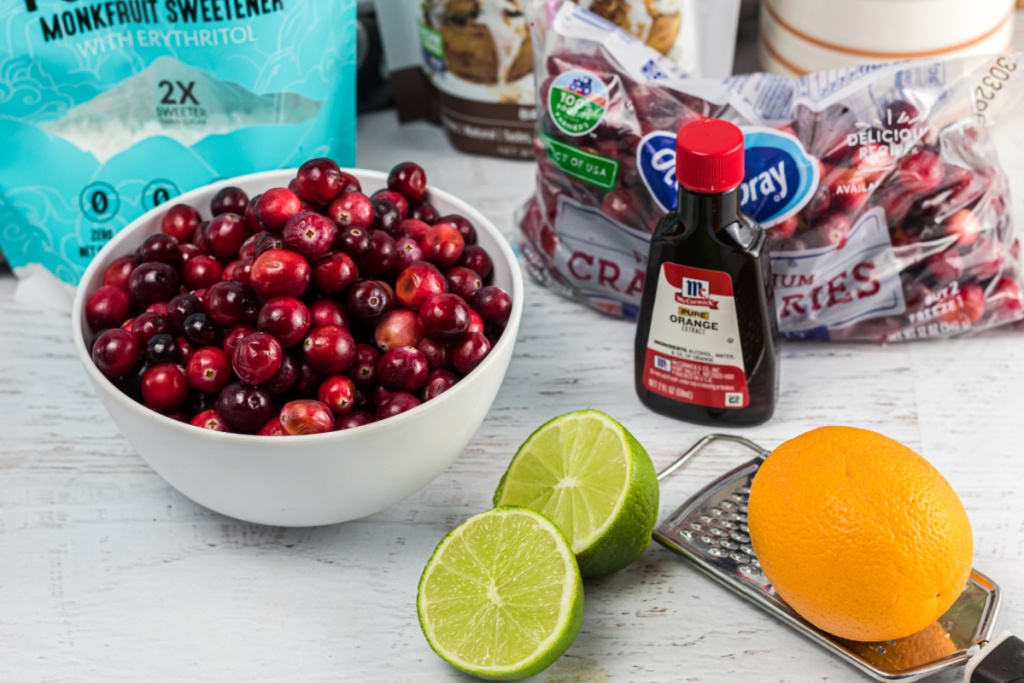 ingredients for keto cranberry sauce