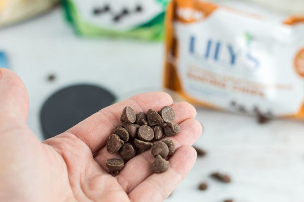 Handful of Lily's chocolate chips