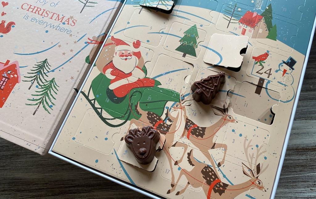 keto chocolate pieces on choc zero advent calendar
