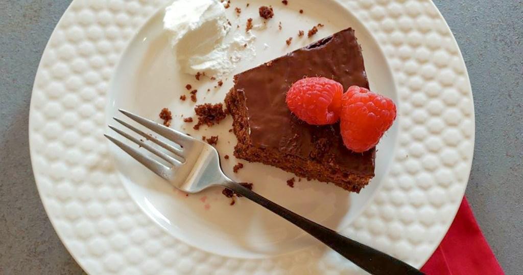 slice of keto chocolate cake