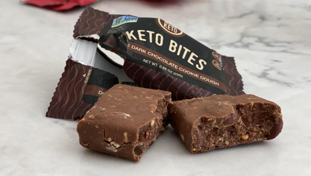 double dark chocolate bhu bites