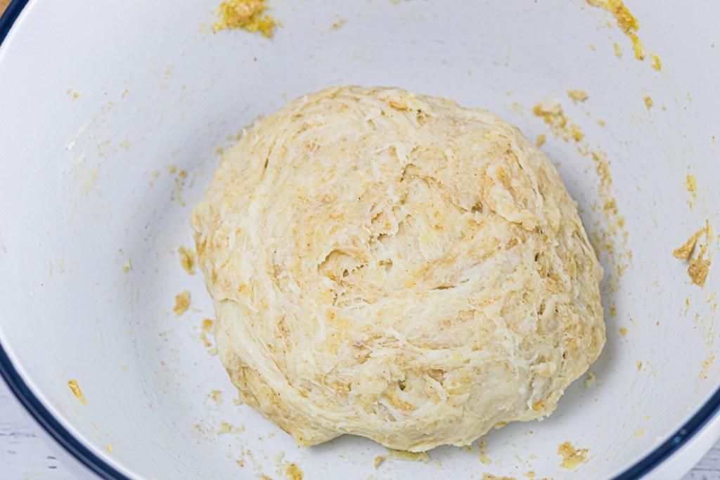 easy keto dough in bowl