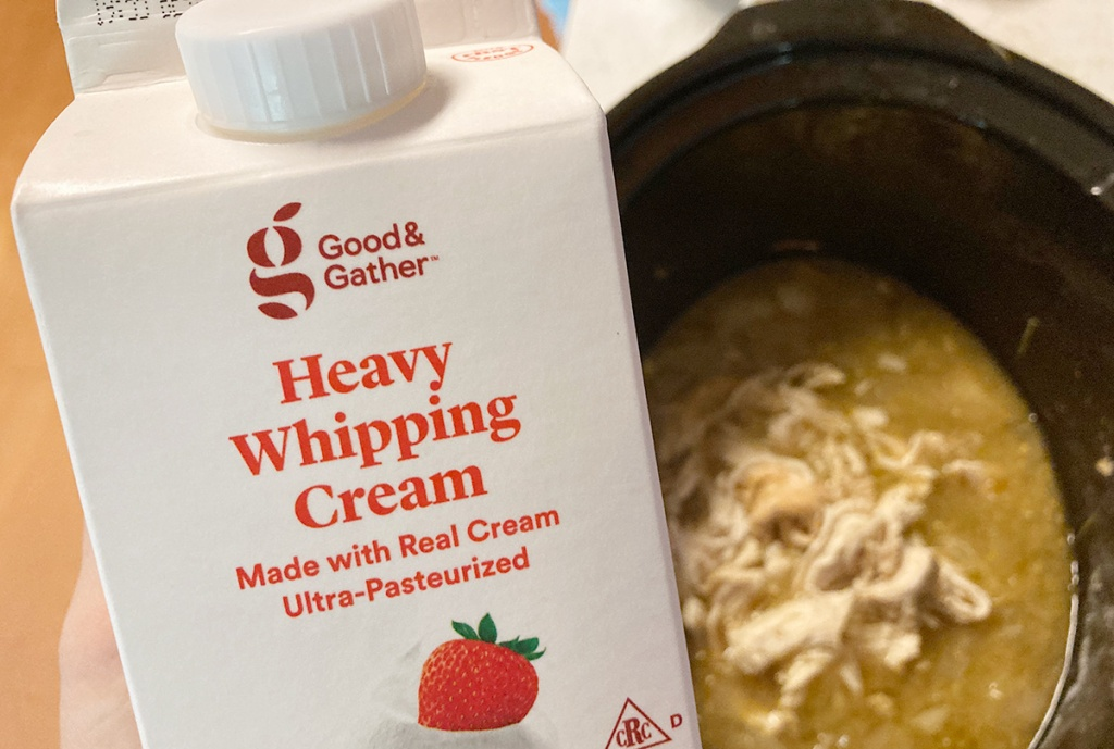 heavy cream for keto green enchilada soup