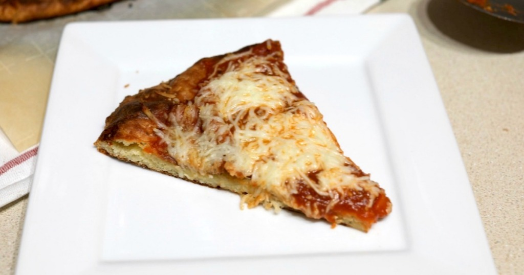 keto cheese pizza slice with easy dough recipe