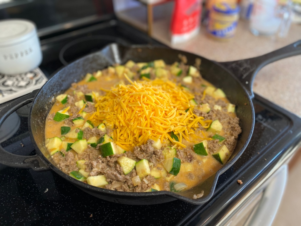 adding cheese to keto hamburger helper