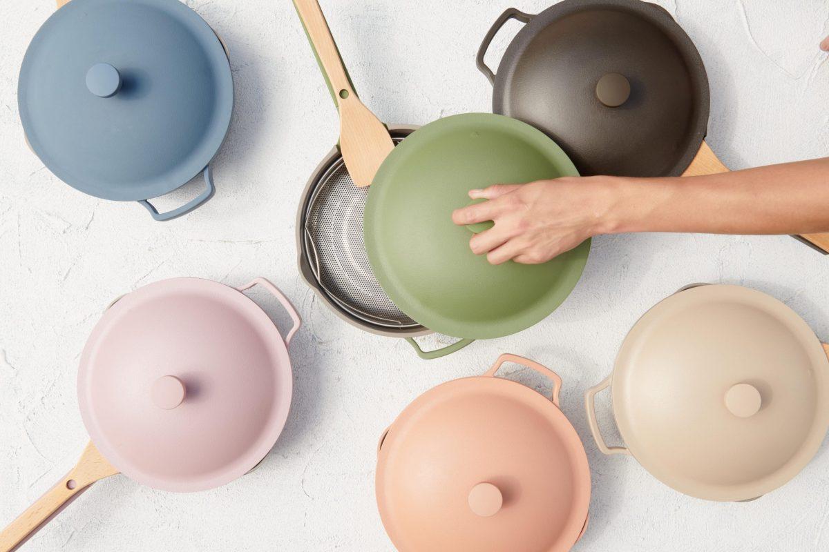 Always pans in various colors