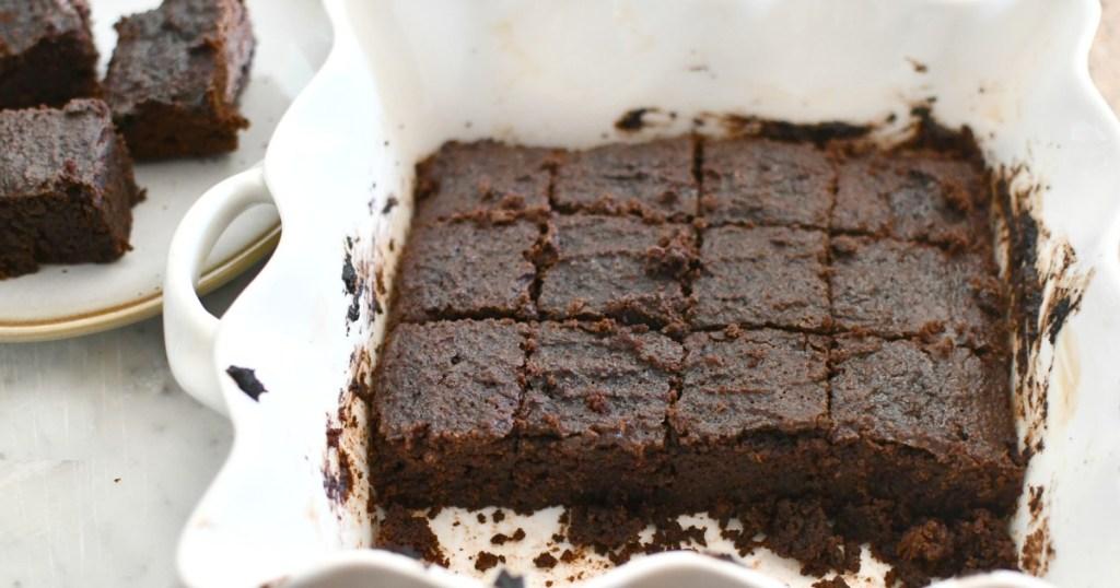 pan with super fat fudge keto brownies