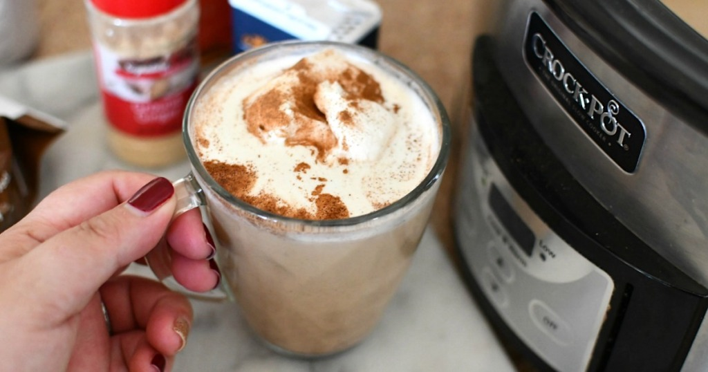 keto gingerbread latte in a cup