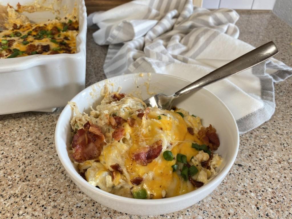 bowl of chicken jalapeno casserole