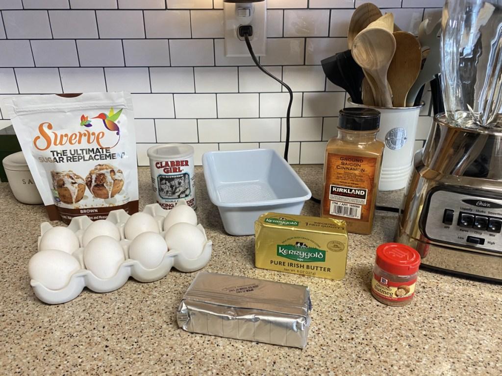 ingredients for egg loaf bread