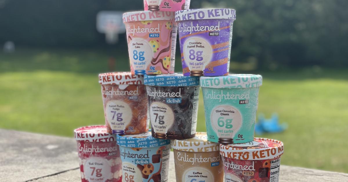 Pyramid of enlightened keto ice creams