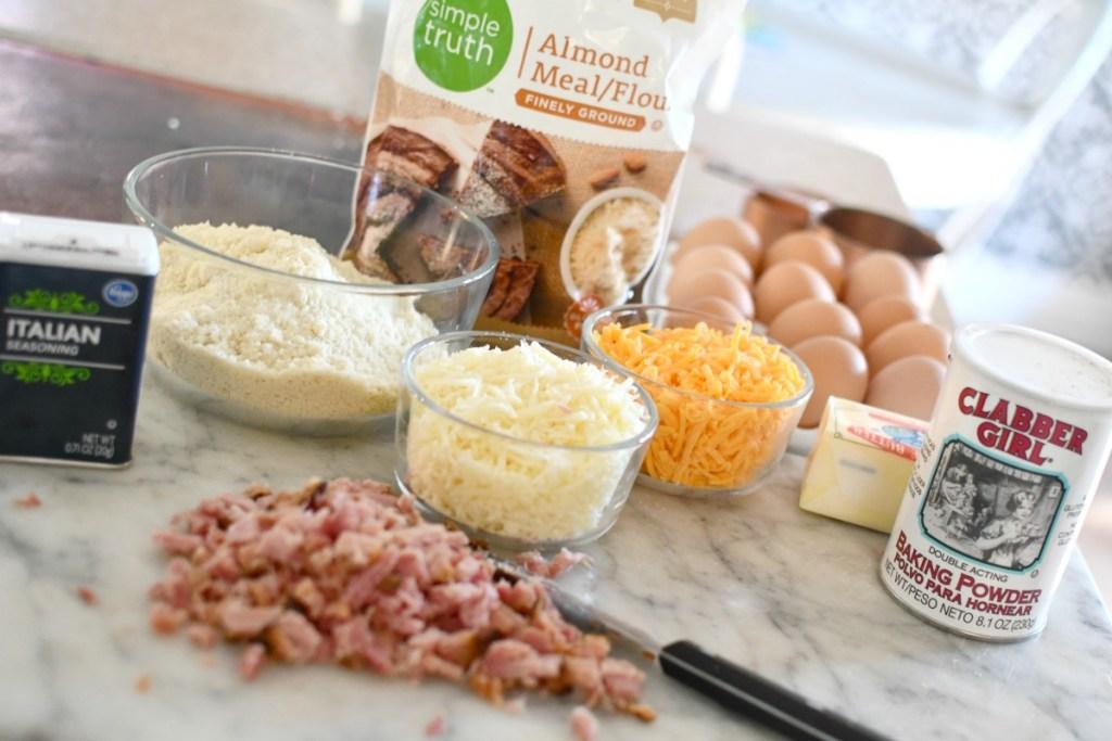 ingredients for keto ham rolls