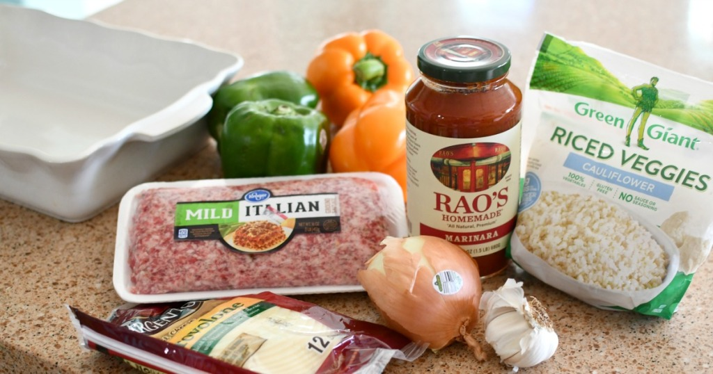 ingredients for keto stuffed peppers