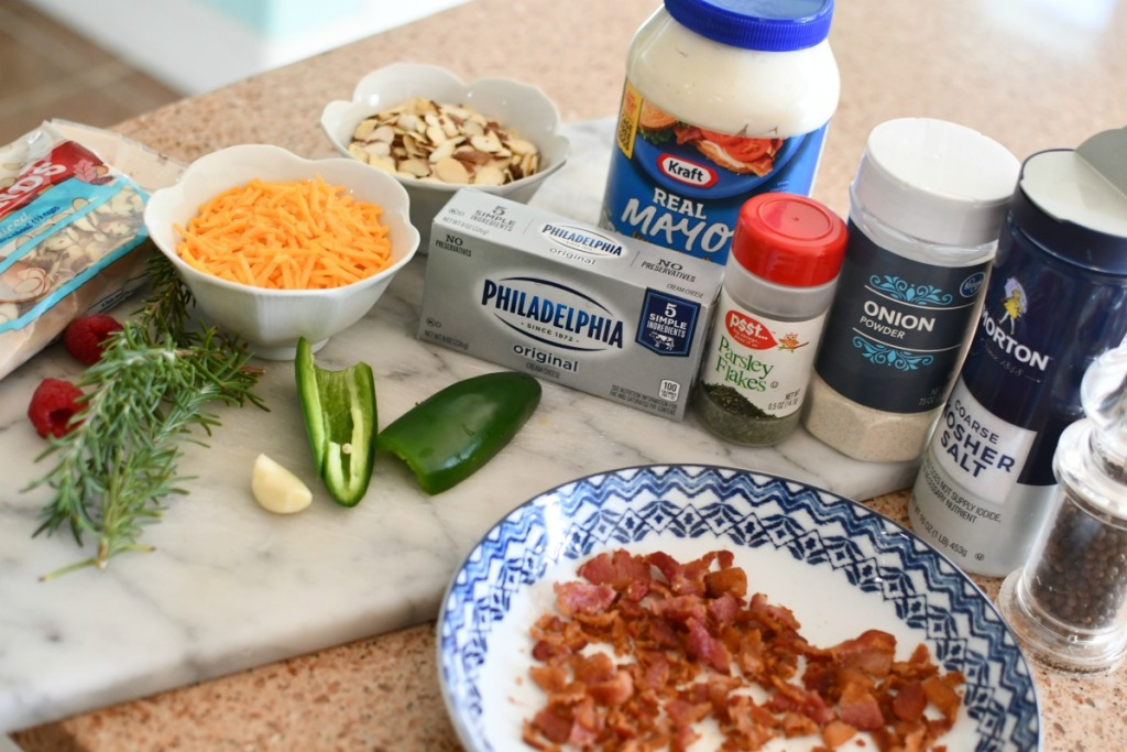 keto bacon cheddar cheese ball ingredients