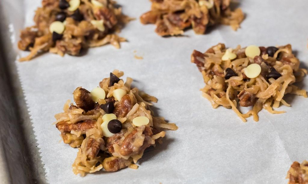 tray of keto no bake pecan coconut clusters