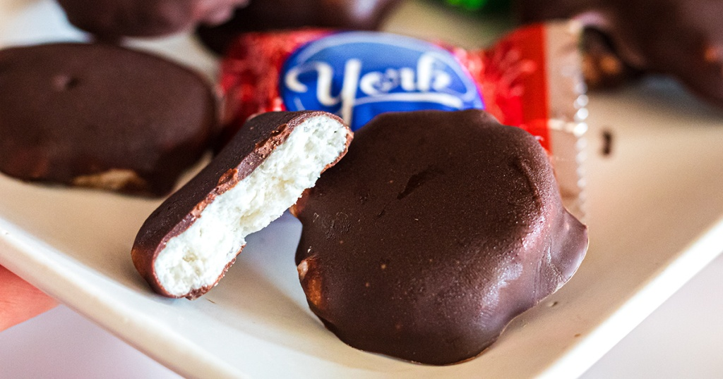 keto game day food peppermint patties with york packaging in background