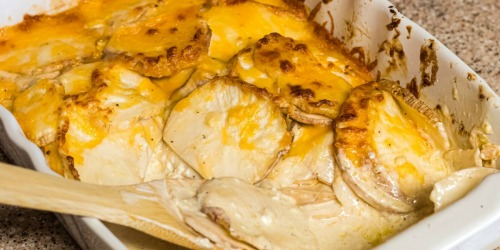 """Easy Keto Scalloped """"Potatoes"""" (You'll Never Guess Our Secret Ingredient)"""
