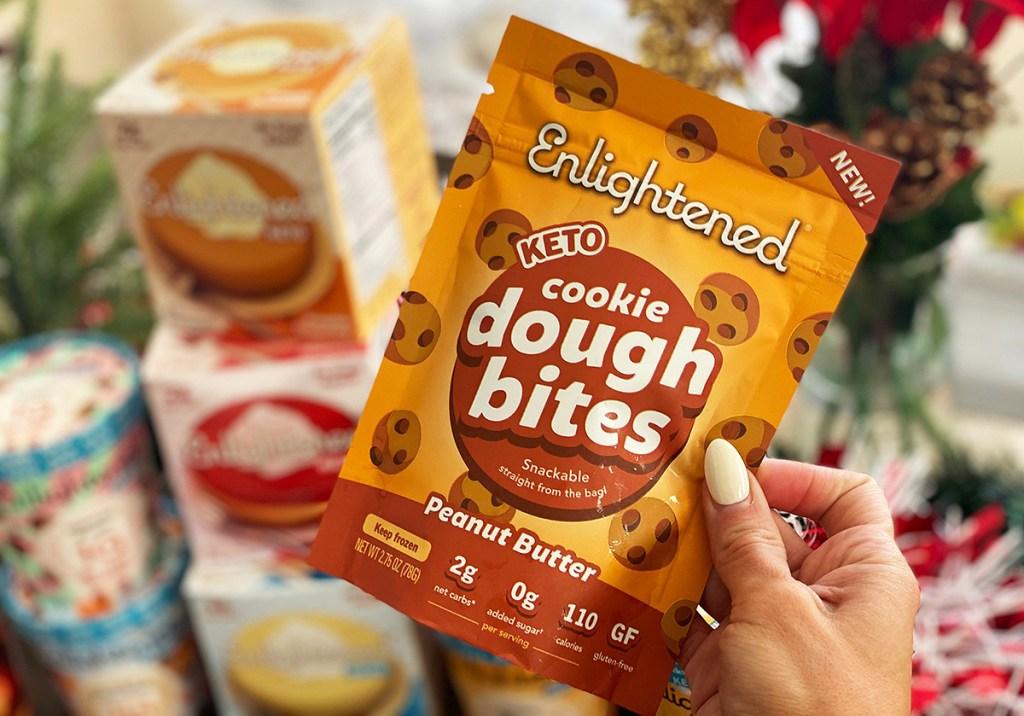peanut butter dough bites
