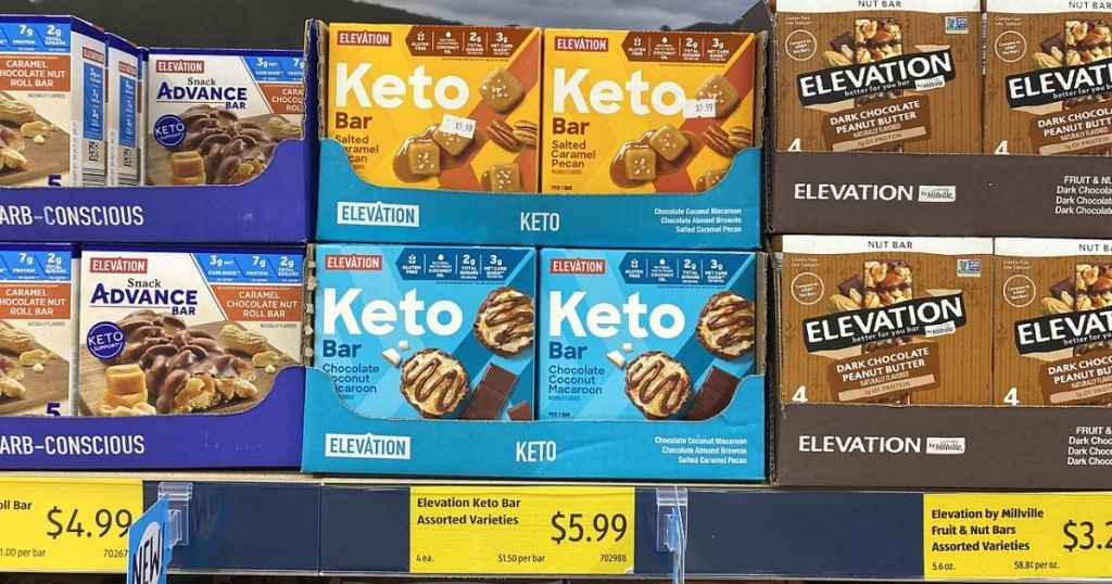 Elevation bars on shelves at a store