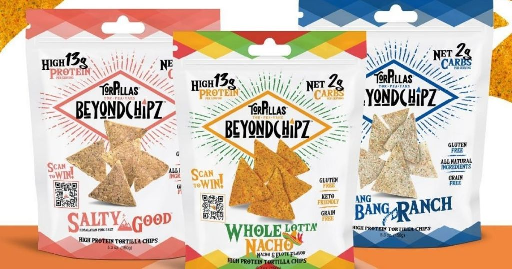 3 bags of chips in different flavors
