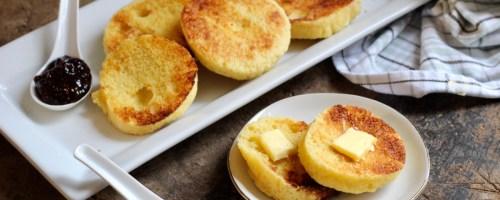 plate of keto english muffins