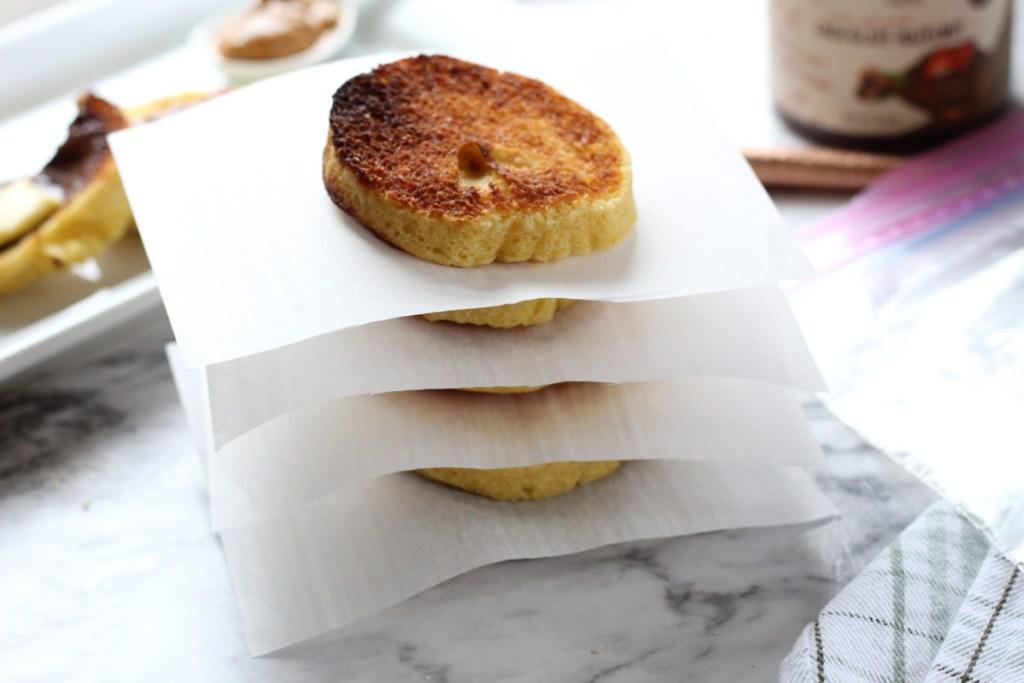 freezing keto english muffin