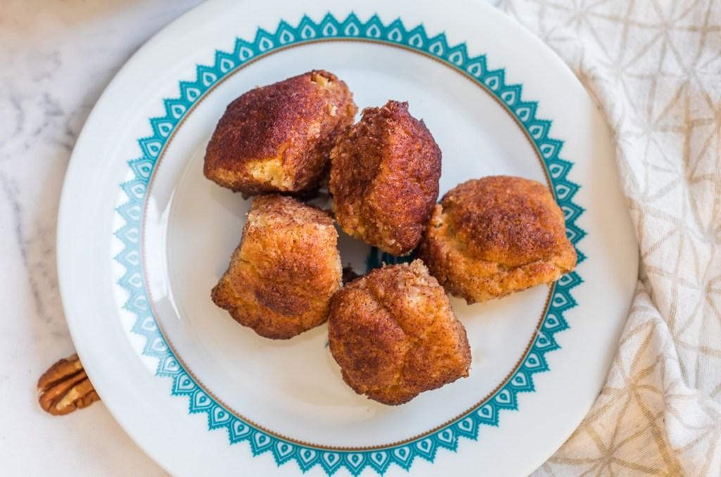 keto monkey bread on a plate