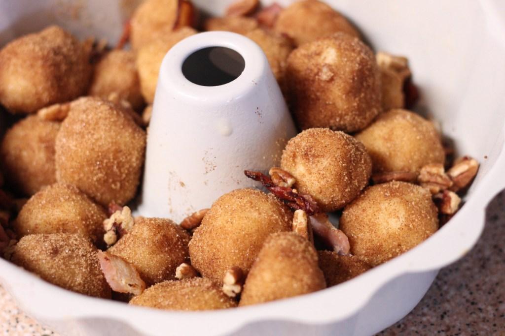 keto monkey bread in pan