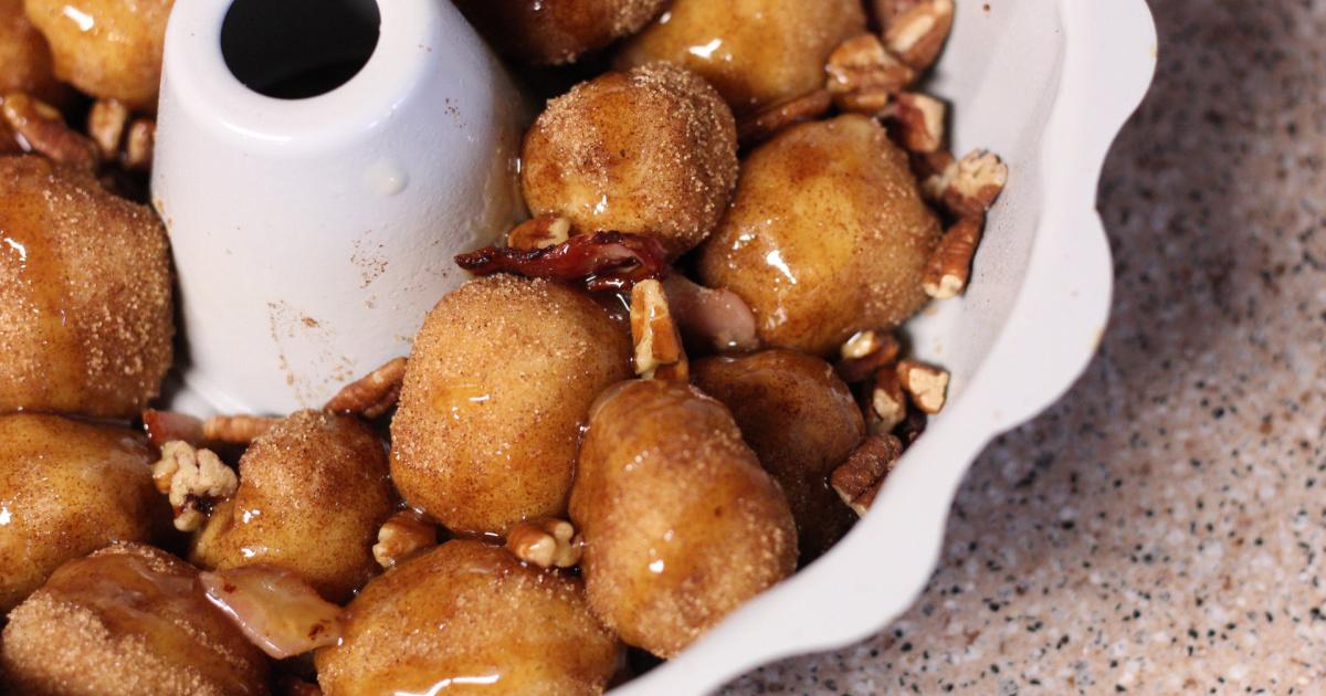 keto monkey bread in a bundt pan