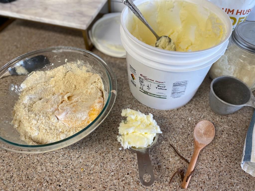 Ingredients for keto masa